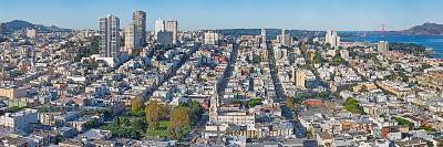 High Angle View of a City, Coit Tower, Telegraph Hill, San Francisco, California, USA--Photographic Print