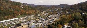 High Angle View of a City, Gatlinburg, Sevier County, Tennessee, USA