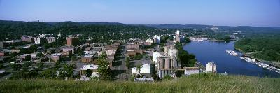 High angle view of a city, Red Wing, Minnesota, USA--Photographic Print