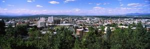 High Angle View of a City, Spokane, Washington State, USA