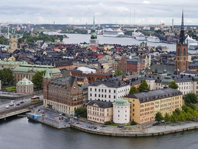 High Angle View of a City, Stockholm, Sweden--Photographic Print