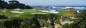High Angle View of a Golf Course, Cypress Point Golf Course, Pebble Beach, California, USA