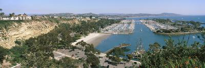 High Angle View of a Harbor, Dana Point Harbor, Dana Point, Orange County, California, USA--Photographic Print