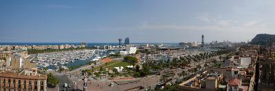 High Angle View of a Harbor, Port Vell, Barcelona, Catalonia, Spain--Photographic Print