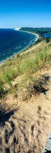 High angle view of a lake, Empire Bluff Trail, Sleeping Bear Dunes National Lakeshore, Lake Mich...