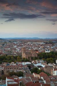 High angle view of a town, Consuegra, Toledo Province, Castilla La Mancha, Spain