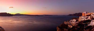 High Angle View of a Town on an Island, Oia, Santorini, Cyclades Islands, Greece--Photographic Print