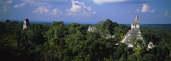 High Angle View of an Old Temple, Tikal, Guatemala--Photographic Print