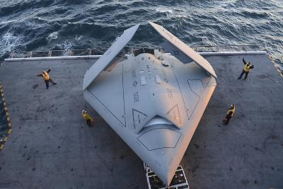 High Angle View of an Unmanned Combat Air System--Photographic Print
