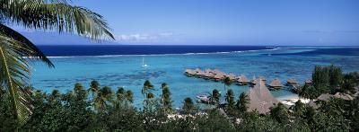 High Angle View of Beach Huts, Kia Ora, Moorea, French Polynesia--Photographic Print