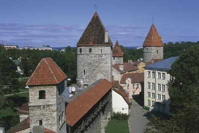 High Angle View of Buildings, Vanalinn, Tallinn, Estonia--Giclee Print