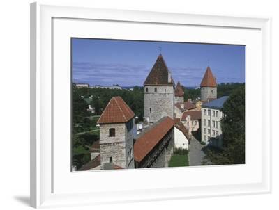High Angle View of Buildings, Vanalinn, Tallinn, Estonia--Framed Giclee Print