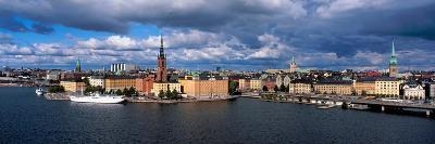 High Angle View of Cityscape at the Waterfront, Stockholm, Sweden--Photographic Print