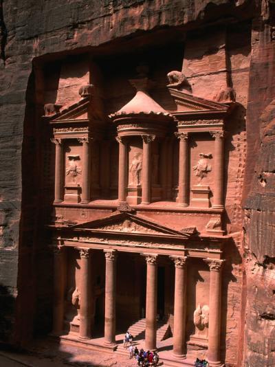 High Angle View of El Khasneh (The Treasury), Petra, Jordan-John Elk III-Photographic Print