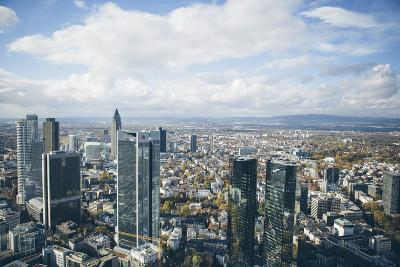 High Angle View of Financial Centre, Frankfurt-Am-Main, Hesse, Germany, Europe-Mark Doherty-Photographic Print