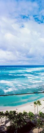 High Angle View of Ocean, Waikiki Beach, Oahu, Hawaii Islands, Hawaii, USA