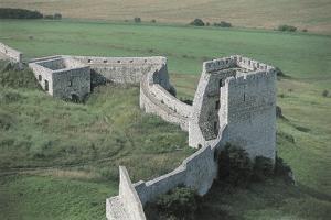 High Angle View of Old Ruins of a Castle, Spis Castle, Spisska Nova Ves, Slovakia