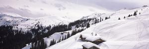 High Angle View of Ski Resort, Kitzbuhel Alps, Wildschonau, Kufstein, Tyrol, Austria