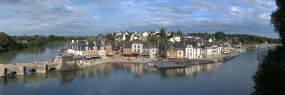 High Angle View of the Medieval Town at the Waterfront, St. Goustan, Auray, Gulf of Morbihan--Photographic Print