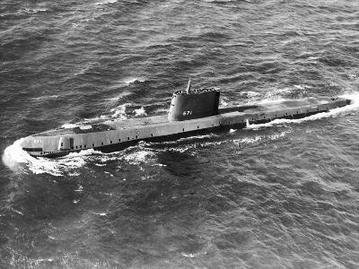 High Angle View of the Submarine USS Nautilus--Photographic Print