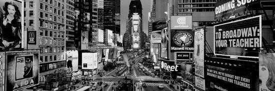 High Angle View Of Traffic On A Road Times Square Manhattan New