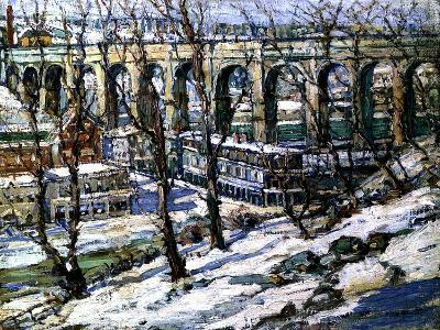 High Bridge on the Harlem River, Usa, C.1907-Edwin H. Gunn-Giclee Print
