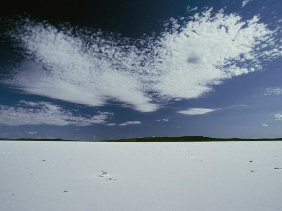 High Clouds Form Above the Dry Salt Lake-Jason Edwards-Photographic Print