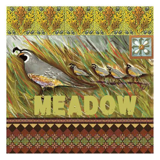 High Country Meadow Tile-Anne Ormsby-Art Print