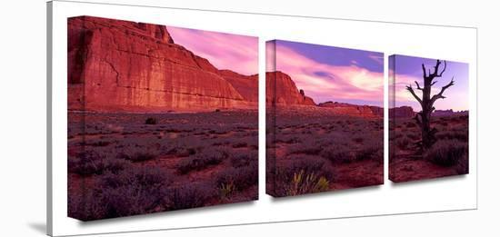 High desert dawn 3-Piece Canvas Set-Dean Uhlinger-Gallery Wrapped Canvas Set