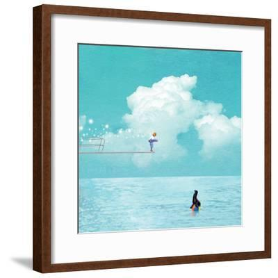 High Dive-Nancy Tillman-Framed Art Print
