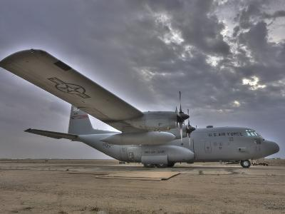 High Dynamic Range Image of a US Air Force C-130 Hercules--Photographic Print