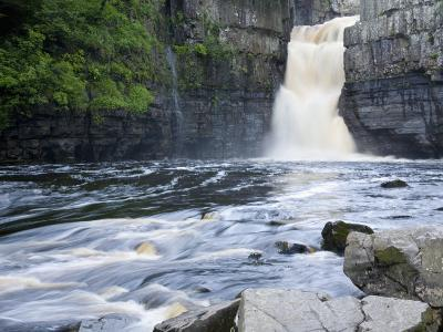 High Force on the River Tees Near the Village of Middleton-In-Teesdale, County Durham, England, UK-Ruth Tomlinson-Photographic Print