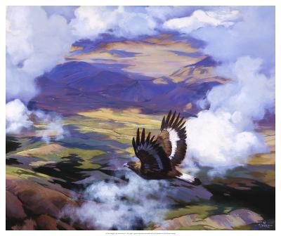 High in the Sunlit Silence-Julie Chapman-Art Print