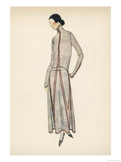 High Neck Dress 1922--Giclee Print