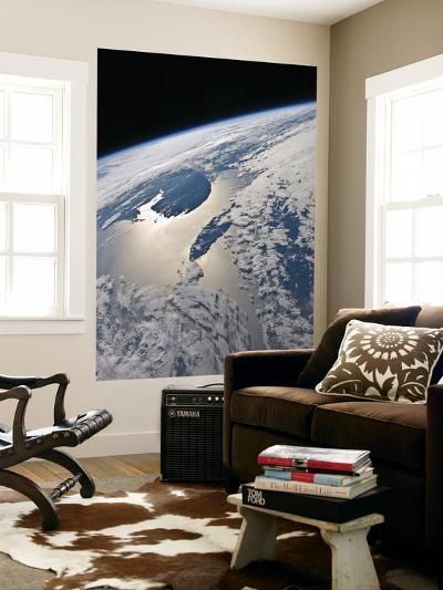 High-Oblique View of the Gaspe Peninsula and Anticosti Island-Stocktrek Images-Wall Mural