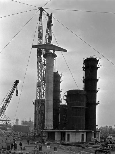 High Pressure Coal Gasification Plant under Construction at Coleshill, West Midlands. 28th May 1-Michael Walters-Photographic Print