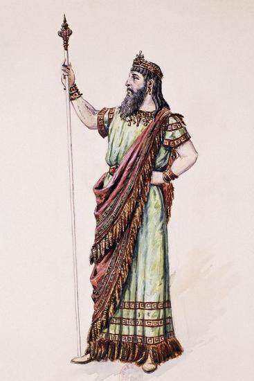 High Priest of Dagon, Sketch for the Costume Created by Charles Bianchini--Giclee Print