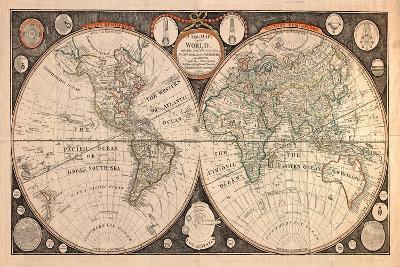 High-Quality Antique Map-megastocker-Art Print