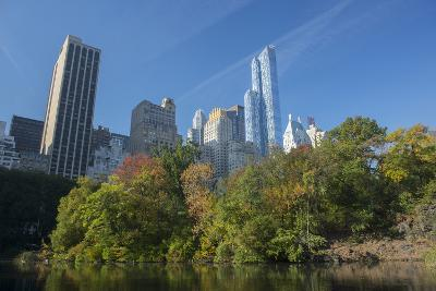 High-Rise Buildings Along from Inside Central Park on a Sunny Fall Day, New York-Greg Probst-Photographic Print