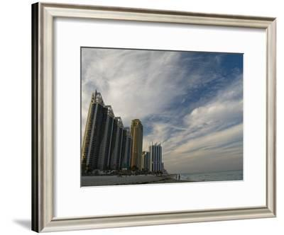 High Rises Along the Coast at Sunny Isles under a Huge Sky-Abraham Nowitz-Framed Photographic Print