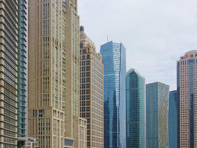 High Rises in Lujiazui Financial District, Pudong, Shanghai, China-Keren Su-Photographic Print