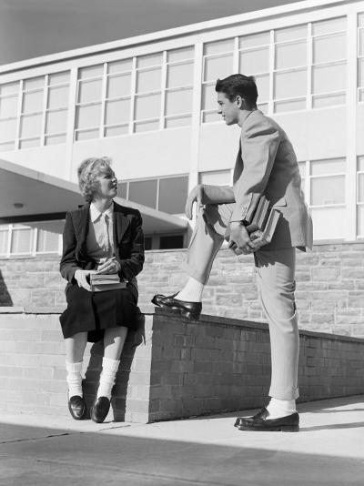 High School Boy and Girl Talking-H^ Armstrong Roberts-Photographic Print