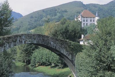 High Section View of a Castle from a Bridge, Echaux Castle, Aquitaine, France--Photographic Print