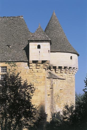 High Section View of a Castle, Sirey Castle, Aquitaine, France--Giclee Print