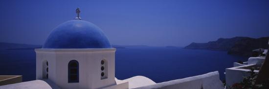 High Section View of a Church, Oia, Santorini, Greece--Photographic Print
