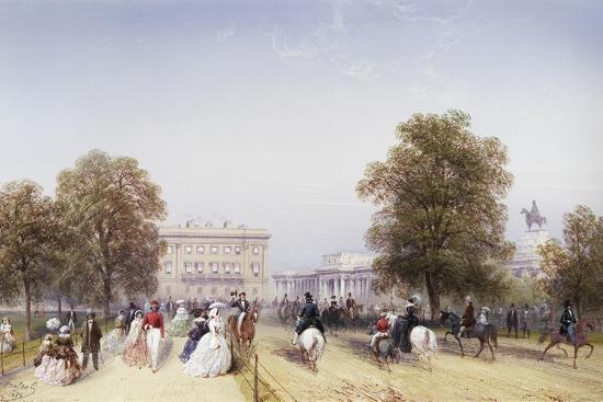 High Society, Rotten Row, Hyde Park-Carlo Bossoli-Giclee Print