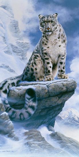 High Spirit - Snow Leopard-Kim Thompson-Giclee Print