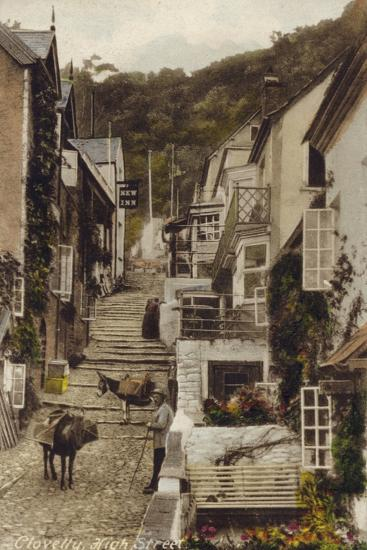 High Street, Clovelly, Devon--Photographic Print