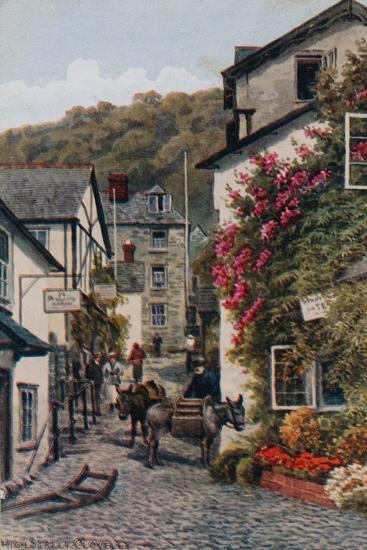 High Street, Clovelly-Alfred Robert Quinton-Giclee Print