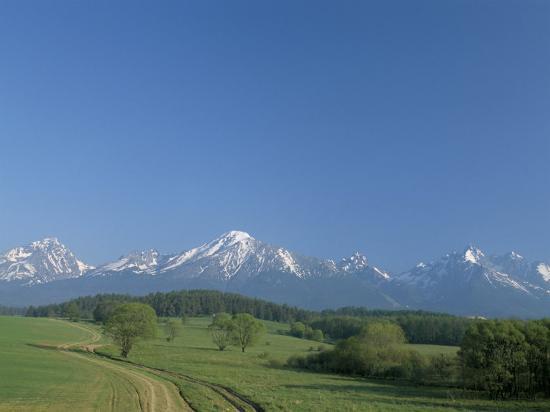 High Tatra Mountains from Near Poprad, Slovakia-Upperhall-Photographic Print